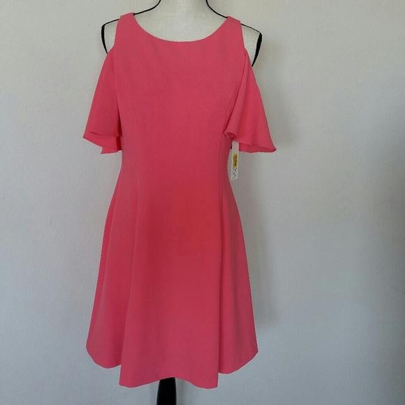 5b0c80733dd0c Eliza J Cold Shoulder Fit and Flare Dress
